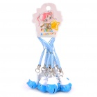 Buy Cute The Smurfs Style Bells with Lanyard - Blue + White (10-Piece)