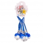 Dragon Ball Monster Head Style Bells with Lanyard - Blue + White (10-Piece)