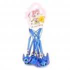 Cute Cartoon Stitch Style Bells with Lanyard - Blue(10-Piece)