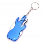 Guitar Style Multifunctional Knife + Bottle Opener + Torch Keychain Set
