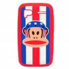 Paul Frank Style Silicone Protective Case for HTC Sensation - Blue + Red + White
