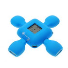 Turtle USB 2.0 4-Port Hub with LCD Clock
