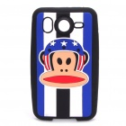 Paul Frank Silicone Protective Case for HTC Desir HD - Blue + White + Black