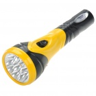 10-LED 800mAh Rechargeable Torch Flashlight - Black + Yellow (110-220V)