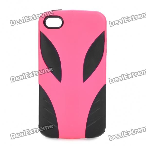 Cool Alien Pattern Protective Plastic Back Case for iPhone 4/4S - Deep Pink