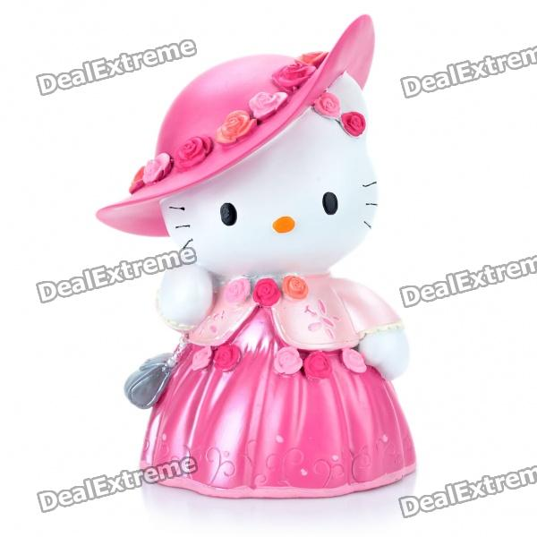 Pretty Hello Kitty Style Coins Bank Money Box - Pink