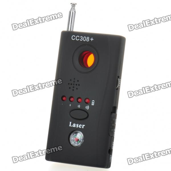 Anti-Pinhole Camera Wireless RF Bug Detector - Black (1~6500MHz)