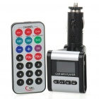 "1.0"" LCD Car MP3 Player FM Transmitter w/ SD/USB - Black + Silver"