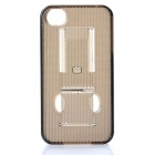 PC Plastic Protective Case for iPhone 4S - Translucent Grey