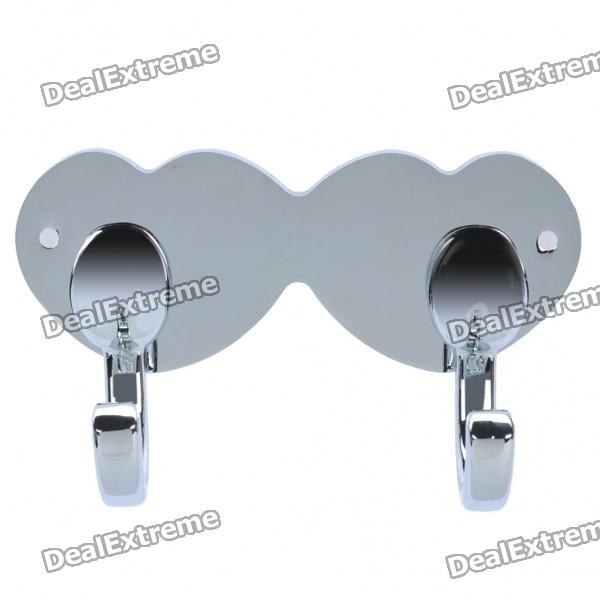 Aluminum Alloy Double Clothes Hooks - Chrome