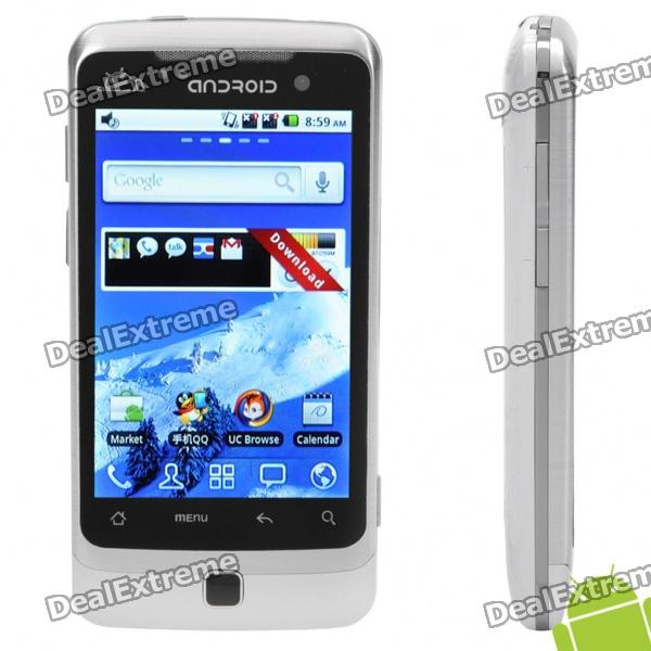 "G6000 3.5"" Touch Screen Dual SIM Android 2.2 3G WCDMA TV Smartphone w/ GPS + Wi-Fi - White"