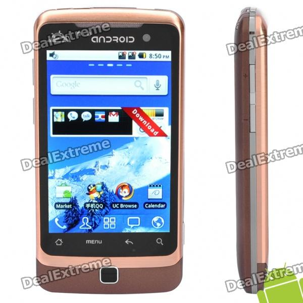 "G6000 3.5 ""Touch Screen Dual SIM Android 2.2 3G WCDMA Смартфон телевизор ж / GPS + Wi-Fi - Golden"