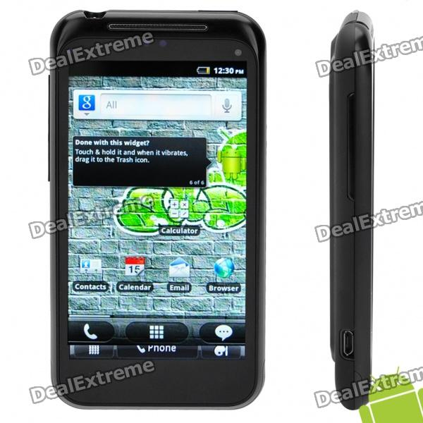 "WG1000 4.1"" Capacitive Screen Android 2.3 Dual SIM 3G WCDMA Smartphone w/ GPS + Wi-Fi - Black"
