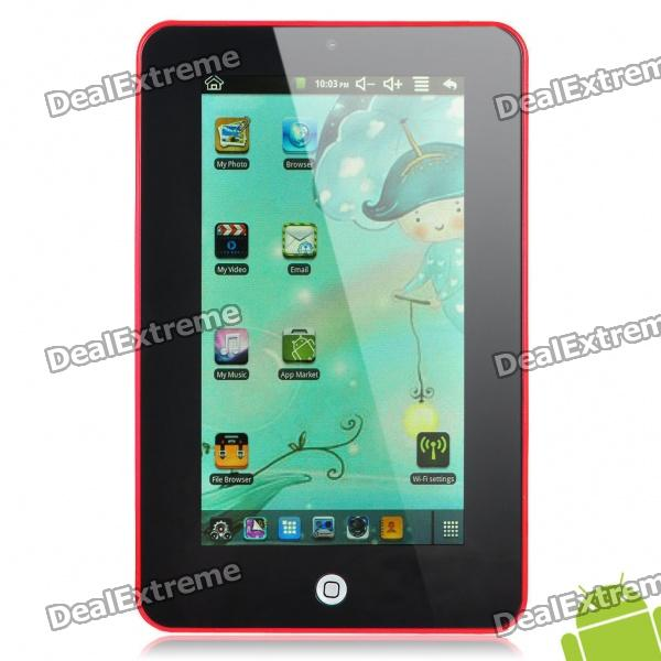 "7 ""Touch-Screen Android 2.2 Tablet PC w / Kamera / TF - Red (ARM V5 349.79MHz / 2GB)"