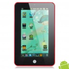 "7"" Touch Screen Android 2.2 Tablet PC w/ Camera / TF - Red (ARM V5 349.79MHz / 2GB)"