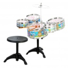 Kids Musical Instrument Rocking Drums Toys Set