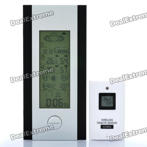 "Multifunction 5.4"" LCD Wireless Barometer Weather Station with Wireless Sensor (2xAA + 2xAAA)"