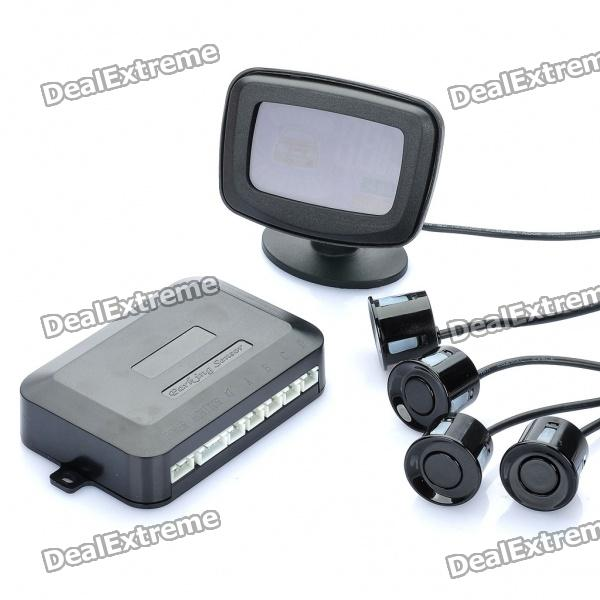 Car Parking Sensor/Radar Kit (DC 12V~24V) 3 5 led display car parking sensor radar kit black dc 10 5v 15v