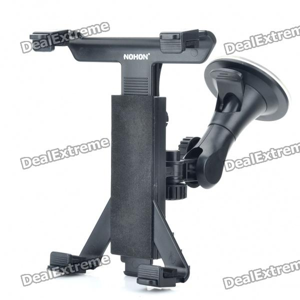 Dual-Use Vehicle Windshield Swivel Mount Holder + Car Seat Backrest Mounting Bracket for Tablet PC