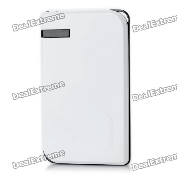 NOHON 5000mAh Mobile Emergency Power Charger w/ 6 Cell Phone Charging Adapters - White
