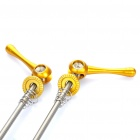 Bicycle Bike Titanium Lightest CNC Quick Release Skewers - Golden (Pair)