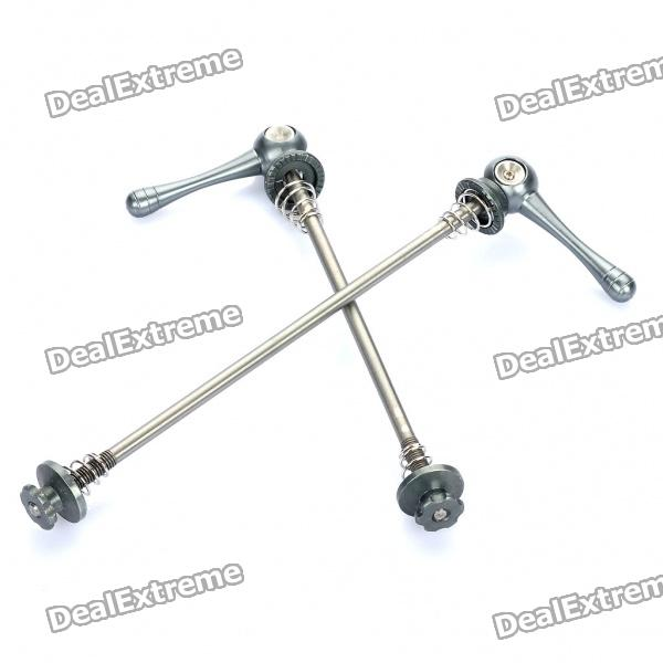Bicycle Bike Titanium Lightest CNC Quick Release Skewers - Grey (Pair)