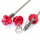 Bicycle Bike Titanium Lightest CNC Quick Release Skewers - Red (Pair)