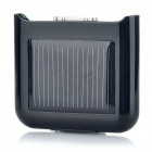 Solar Powered 860mAh External Battery Emergency Power Charger for iPhone 4/4S - Black