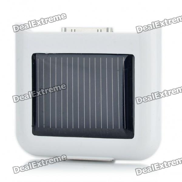 Solar Powered 860mAh External Battery Emergency Power Charger for iPhone 4/4S - White