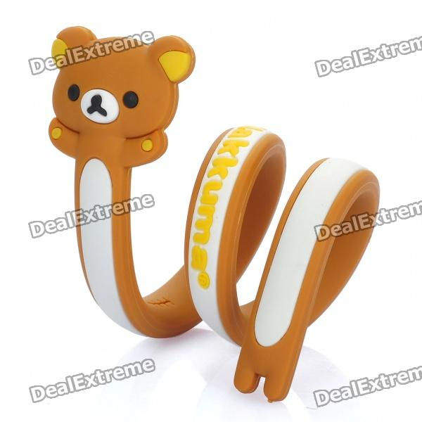Flexible Cartoon Rilakkuma Stil Drahtseil Kabelbinder Twister Organizer