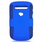 Protective Plastic Mesh & Silicone Back Case for Blackberry 9900/9903 - Blue