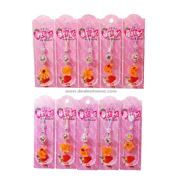 Charming Cell Phone Straps with Activity LED (10-Pack/Assorted)