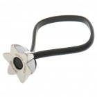 Cute Stainless Steel Flower Style Button Rubber Strap Keychain