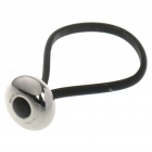 Cute Stainless Steel Round Bead Style Button Rubber Strap Keychain