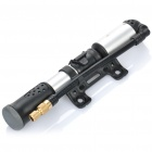 Portable Dual Valves Bicycle Bike Air Pump w/ Pressure Gauge - Black + Silver