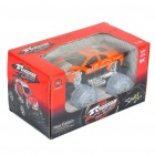 1:18 4-CH 27MHz R/C Racing Car w/ Lighting Effect - Orange (3 x AA / 2 x AA)