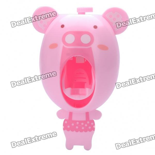 Cute Piggy Style Automatic Toothpaste Squeezer - PinkLifestyle Gadgets<br>Color: Pink - Material: ABS - Easy to be mounted on the wall with suction cup - Helps get the last drop from toothpaste tube - Simply insert the tube on the squeezer and push the button to get some toothpaste - Keeps tubes neat and tidy<br>