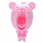 Cute Piggy Style Automatic Toothpaste Squeezer - Pink