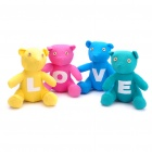 Romantic LOVE Bear Style Cotton Fabric Doll Toys Valentine's Day Gift (4 Piece Pack)