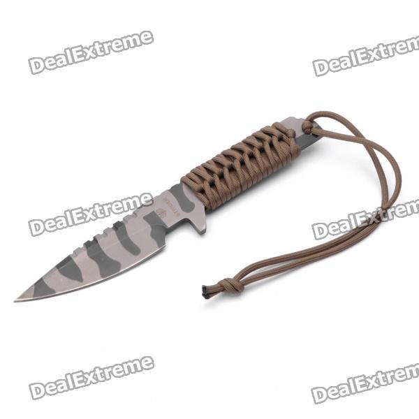 Military Tactical Steel Knife with Sheath