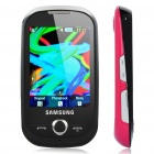 "Samsung S3650 2.8"" Touch Screen Quadband GSM Music CellPhone w/ Java + FM - Black + Pink"