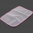 Ironing Shield Garment Protector Mesh Cloth - White + Pink