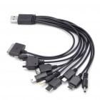 10-in-1 USB Charging Cable for iPod / Motorola / Nokia / Samsung / LG / PSP / Sony Ericsson (27cm)