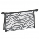 Multi Function Zebra Stripe Water Resistant Cosmetic Bag