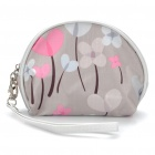 Stylish Make-up / Cosmetic Handbag w/ Mirror / Strap - Grey