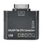 OTG Connection Kit + Card Reader for Samsung Galaxy Tab 10.1 P7510/P7500/P7300/P7310 - Black