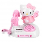 "Cute Hello Kitty Angle Heart Style 1.8"" LED Round Dial Plate Telephone Set - White + Pink"