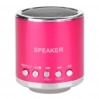 Portable Rechargeable Music Speaker Player with TF - Purple Red