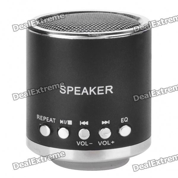 Portable Rechargeable Music Speaker Player with TF - Black