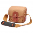 Stylish Canvas One Shoulder Bag for Canon Camera - Khaki